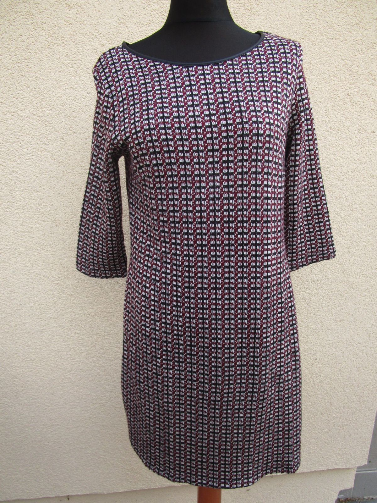 yessicac&a strickkleid kleid rot-schwarz gr.m (z79)   ebay