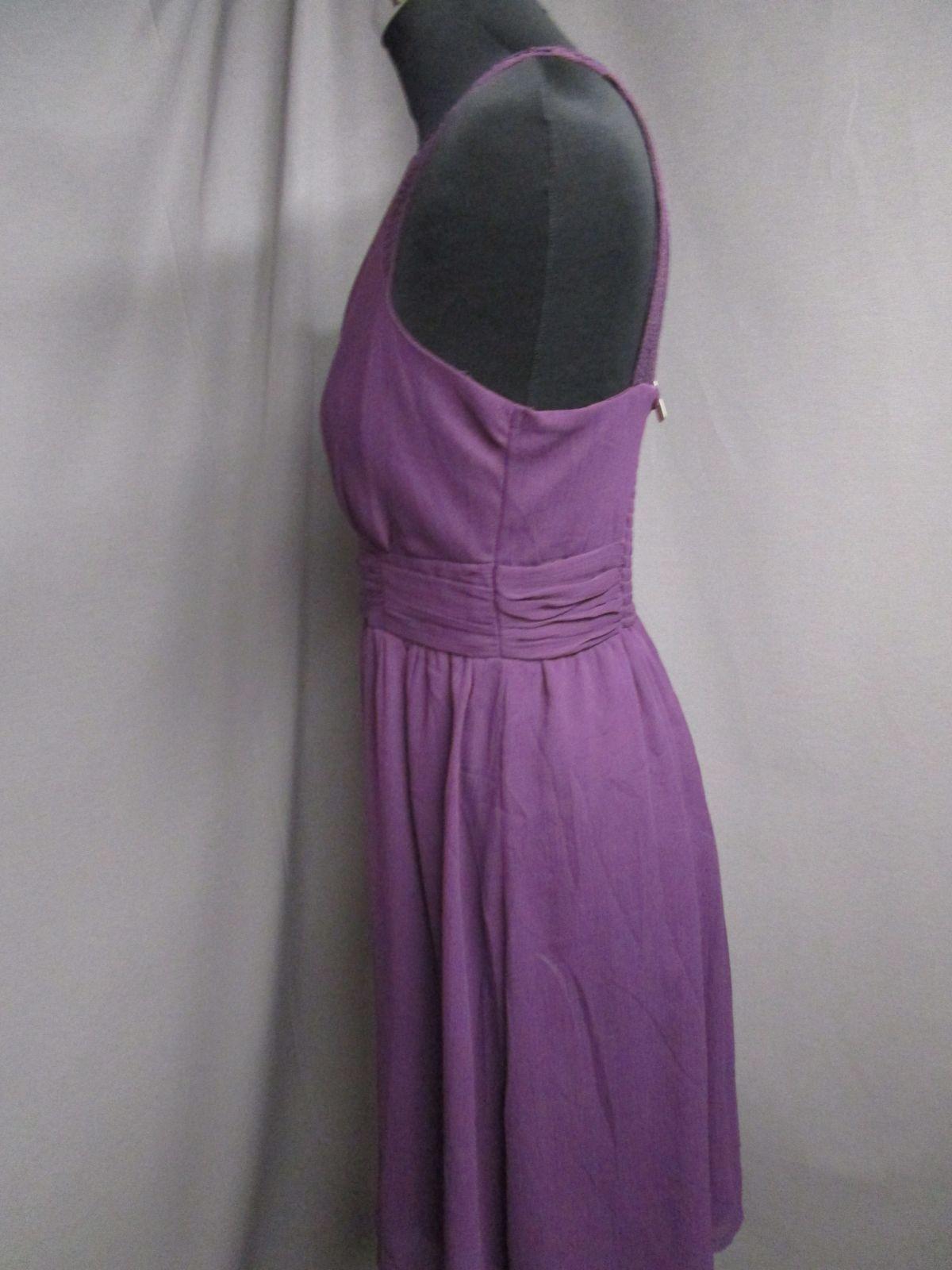 details zu vero moda kleid lila gesmokter rücken pailetten gr.s neuwertig  (z77)